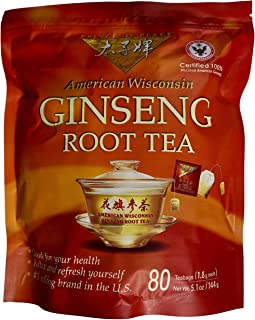 Prince of Peace 100% American Wisconsin Ginseng Root Tea, 80 Tea Bags