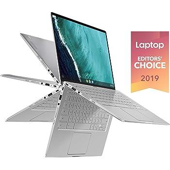 "ASUS Chromebook Flip C434 2-In-1 Laptop, 14"" Full HD Touchscreen 4-Way NanoEdge, Intel Core M3-8100Y Processor, 4GB RAM, 64GB eMMC Storage, All-Metal Body, Backlit KB, Chrome OS- C434TA-DSM4T, Silver"