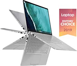 "Asus Chromebook Flip C434 2 In 1 Laptop, 14"" Touchscreen FHD 4-Way NanoEdge, Intel Core M3-8100Y Processor, 4GB RAM, 64GB eMMC Storage, All-Metal Body, Backlit KB, Silver, Chrome OS, C434TA-DSM4T"