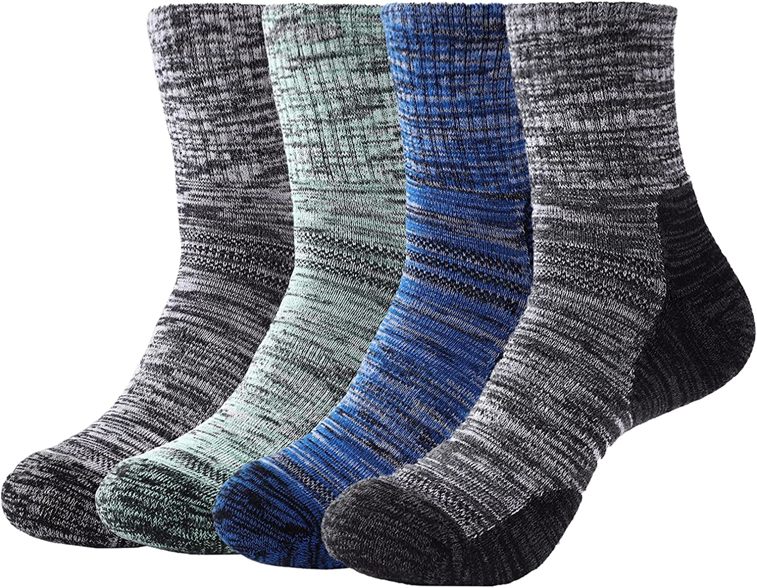 4 Pairs Men's Walking Hiking W Multi Max 58% OFF Manufacturer direct delivery Socks Moisture Performance