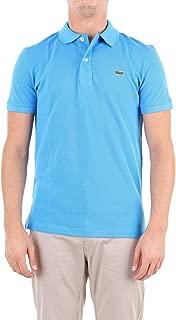 Lacoste Luxury Fashion Mens BH401200AZZURRO Light Blue Polo Shirt | Season Outlet