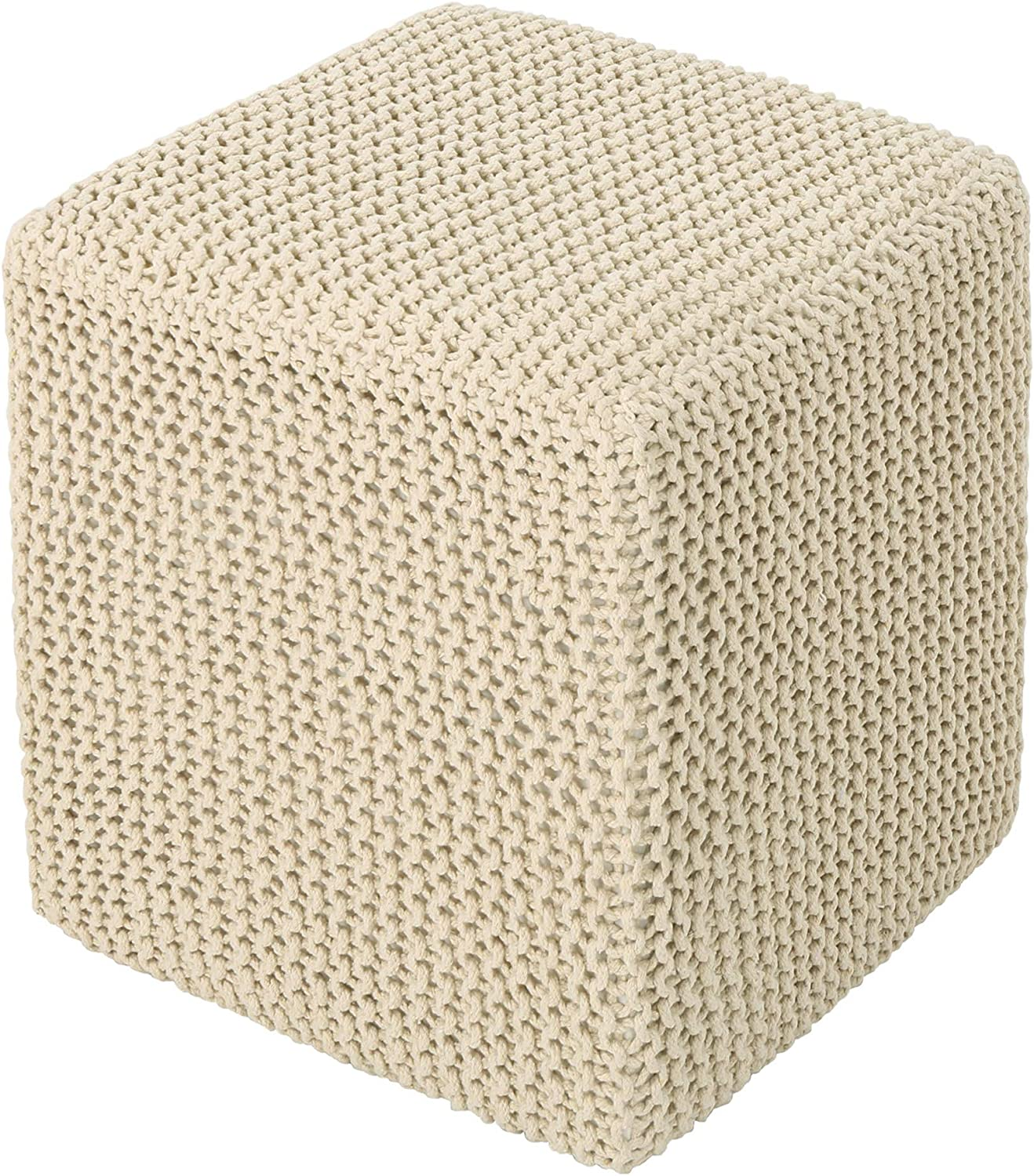 Christopher Knight Home Scott Stool Popular overseas Foot New mail order Knitted Beige