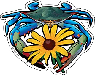 Citizen Pride Blue Crab Maryland Black-Eyed Susan 5x4 inches Sticker Decal die Cut Vinyl - Made in USA