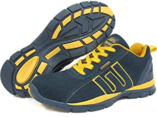 Groundwork Footwear Safety Boots, Mens Work Boot, Safety Trainer, Steel Toe Cap, Safety Jogger, Construction Boot - Navy & Yellow