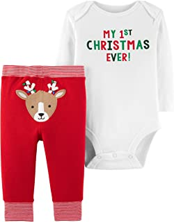Carter's Baby 2-Piece First Christmas Bodysuit Pant Set (6 Months)