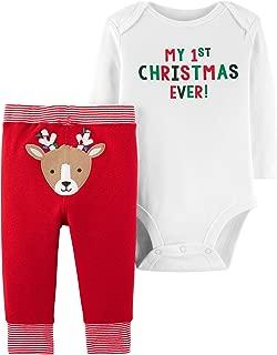 Baby Boys' Christmas 2-Piece Bodysuit & Pant Set