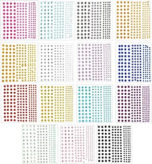 Crystal Rhinestone Stickers for Arts and DIY Crafting (15 Sheets, 2580 Pieces)
