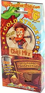 Gold Strike Chili Mix Packets, No Fillers, Gluten Free 2 Packets Per Box