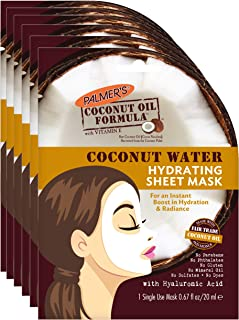Palmer's Coconut Oil Formula Hydrating Sheet Mask, (pack Of 6), 0.67 Fluid Ounce