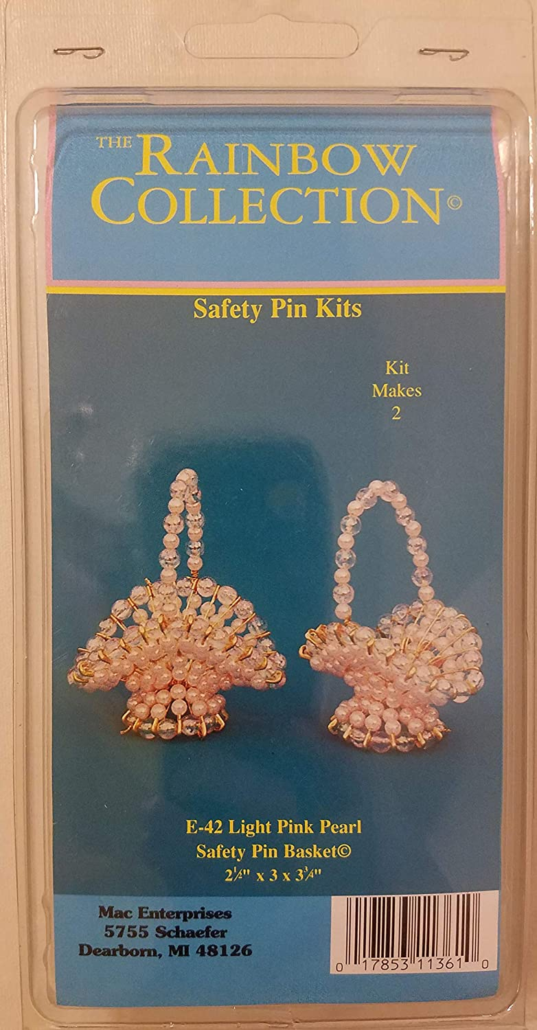 Pink Pearl Safety 70% OFF Outlet Pin Baskets Sale Special Price Kit Beading Easter Craft