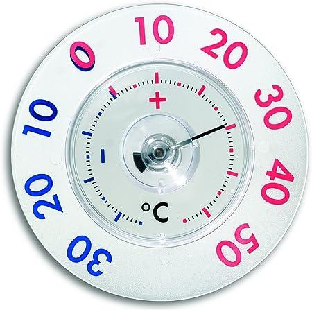 Tfa Dostmann Twatcher Xl Analoges Fensterthermometer Leichte Montage Mit Saugnapf Zweifarbiger Skala Wetterfest Küche Haushalt
