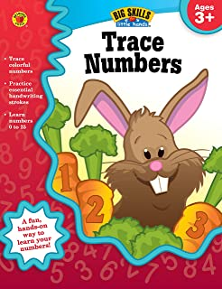 Carson Dellosa | Trace Numbers Workbook | Preschool–2nd Grade, 32pgs (Big Skills for Little Hands®)