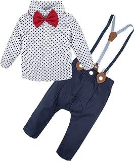 BIG ELEPHANT 2 Pieces Baby Boys Long Sleeve Shirt Overalls Set Multicoloured E34L64