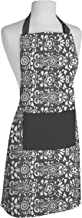 AIRWILL Cotton Designer Printed Aprons with 1 Center Pocket, Adjustable Buckle on Top and 2 Long Ties on Both 2 Sides (65x80cm) - Pack of 1