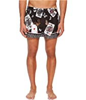 Dolce & Gabbana - Playing Cards Short Boxer Swimsuit w/ Bag