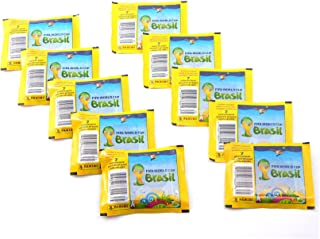 10 (Ten) Packs of 2014 Panini FIFA World Cup Brazil (Brasil) Sticker Collection (10 Pack Lot)