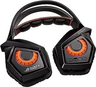 ASUS ROG Strix Wireless - Auriculares con micrófono (Consola de Videojuegos + PC/Videojuegos, Binaural, Diadema, Digital, Inalámbrico y alámbrico), Color Naranja y Negro