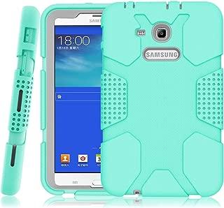 Hocase Galaxy Tab E Lite 7.0 (2016) Case, Rugged Heavy Duty Kids Proof Protective Case for Galaxy Tab E Lite 7.0 SM-T113NDWAXAR/SM-T113NYKAXAR - Mint Green/Grey