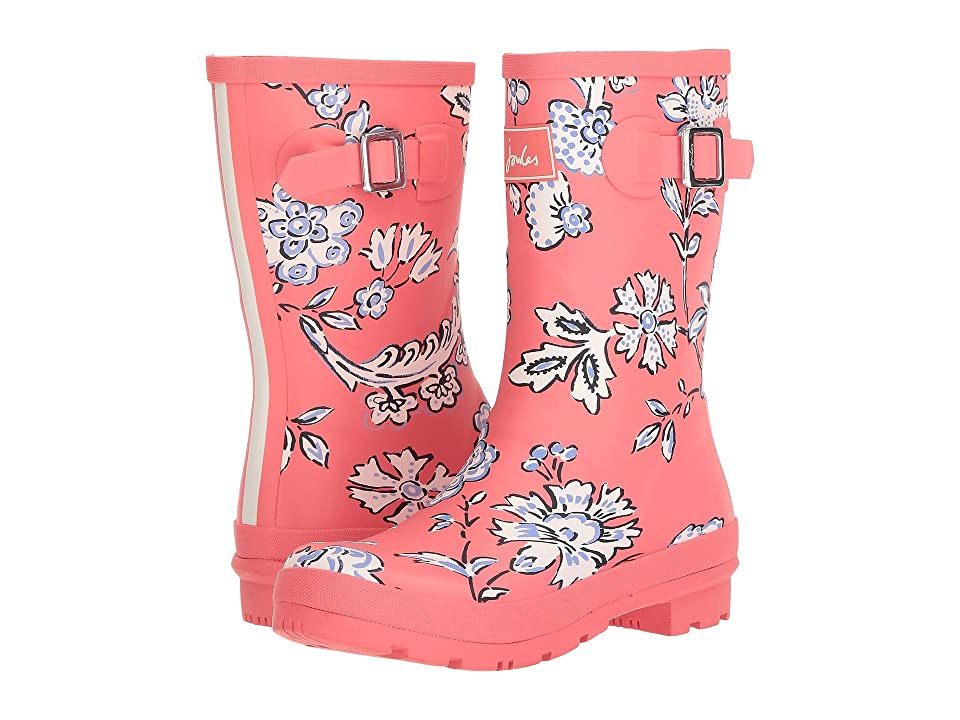 Joules Mid Molly Welly (Red Indienne Floral Rubber) Women