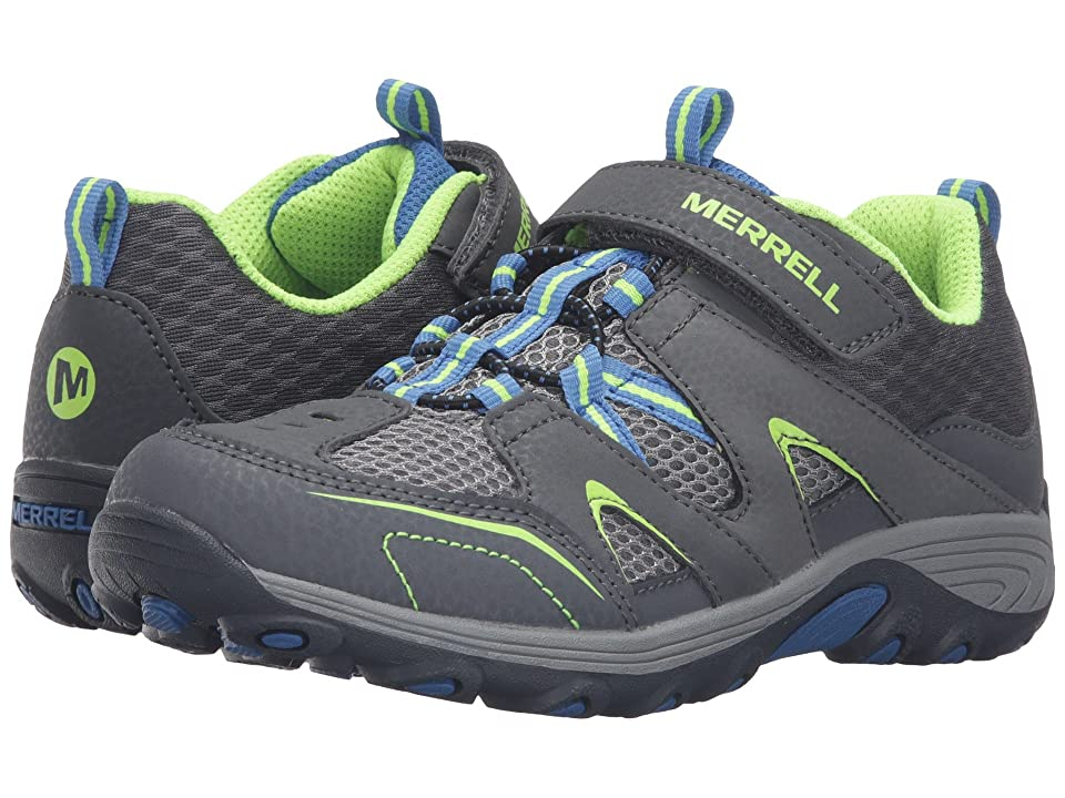 Merrell Kids Trail Chaser (Big Kid) (Grey/Blue/Citron Suede/Mesh) Boys Shoes