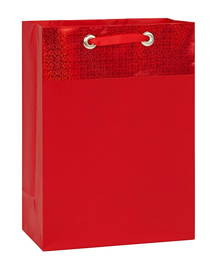 American Greetings Solid Gift Bag, Medium, Red