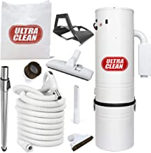 Ultra Clean Central Vacuum Package, Tangential Bypass Motor up to 7,500 sq. ft. with Deluxe Hose and Accessories Combo Kit Ideal for Hardwood, Bare Floor and Rug (30 ft)