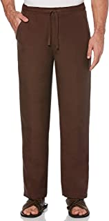 mens chocolate brown linen pants