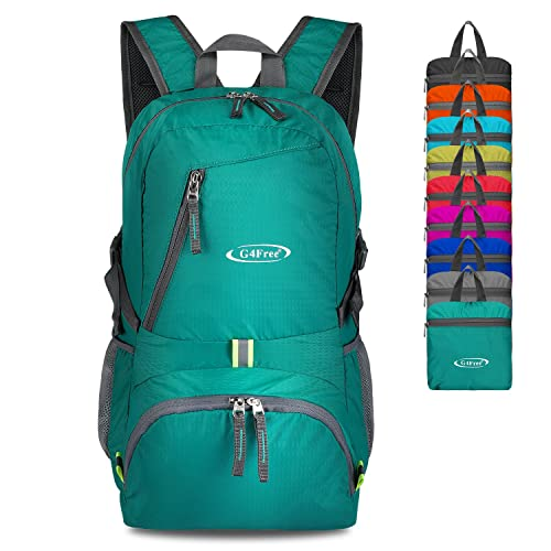 3a8442ef5f G4Free 30L Ultra Lightweight Tear   Water Resistant Foldable Backpack  Packable Rucksack for Travelling