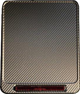 Urbanii Motorrad Kennzeichenverstärker mit REFLEKTOR (E geprüft) CARBON Optik ALU 180 x 200 mm