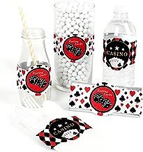 Las Vegas - DIY Party Supplies - Casino Party DIY Wrapper Favors & Decorations - Set of 15
