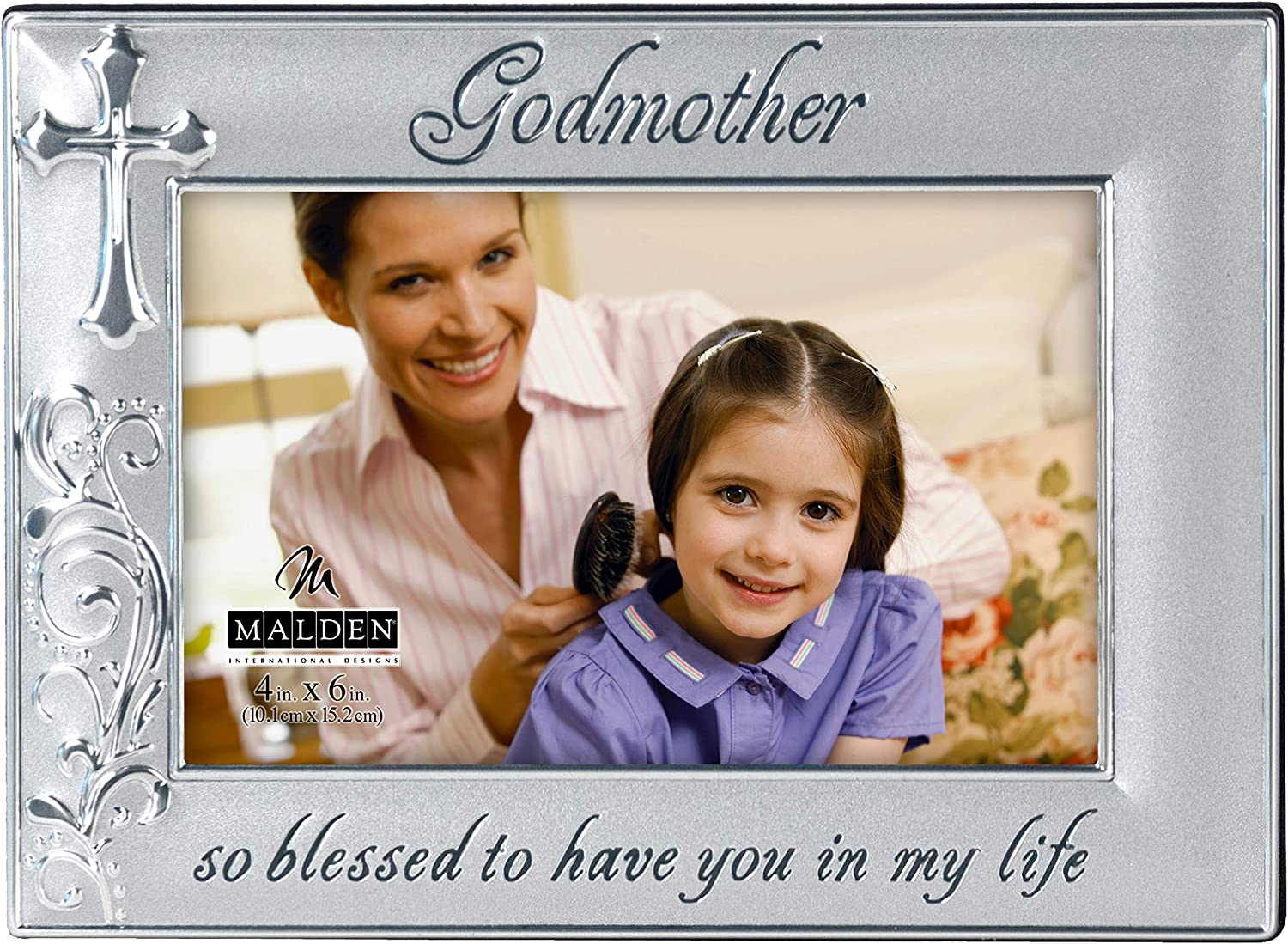 Malden International Designs Godmother with Cross Picture Frame,
