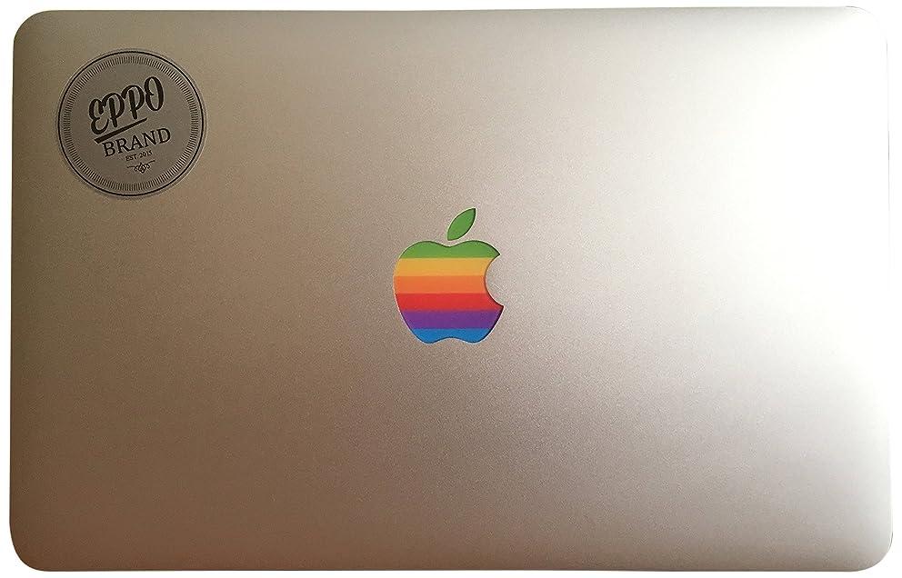 eppo brand RR-12-6-11 Design Art Apple Old Retro Rainbow Multicolour Logo Sticker Decal for 11
