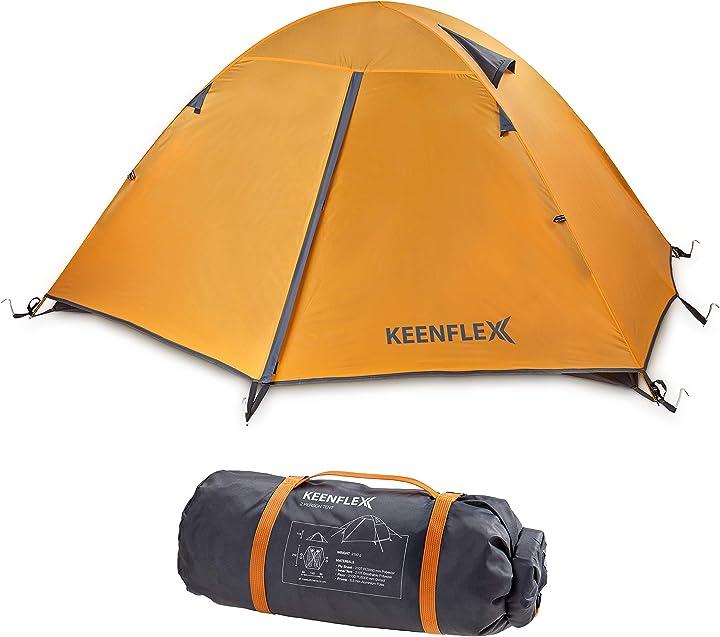 Tenda da campeggio per 2 persone doppio strato ultra leggera keenflex