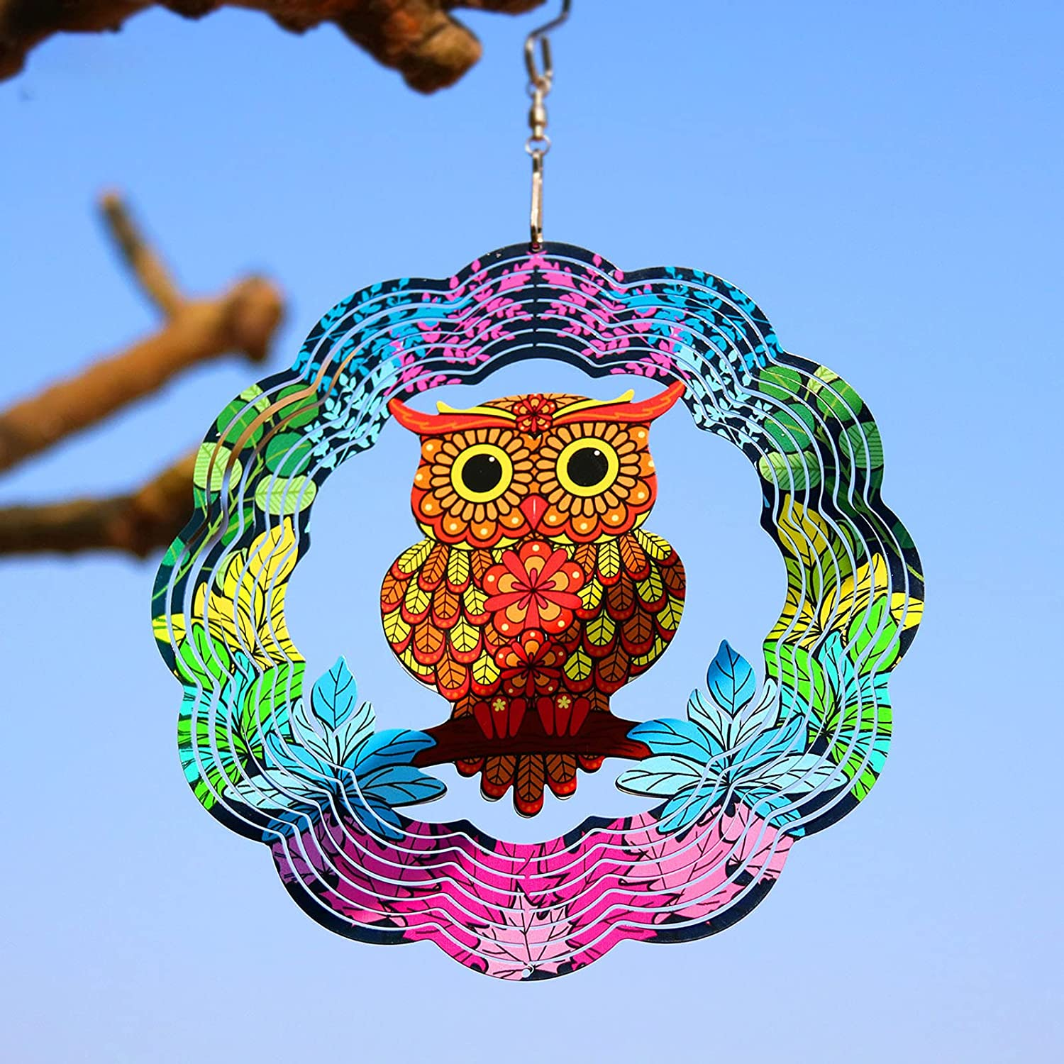 Special price for a limited time 3D Wind Spinners Outdoor Metal Sun Garden Popularity Decor Home Win Catcher