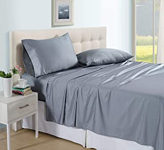 Luxux King Size 600 TC Flexi Fit Sheet Set - 4 Piece - Stone