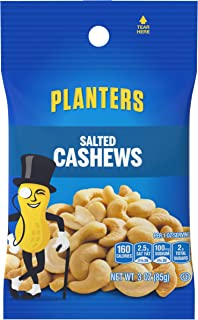 Planters Cashews Bag, 3-Ounce (Pack of 12)