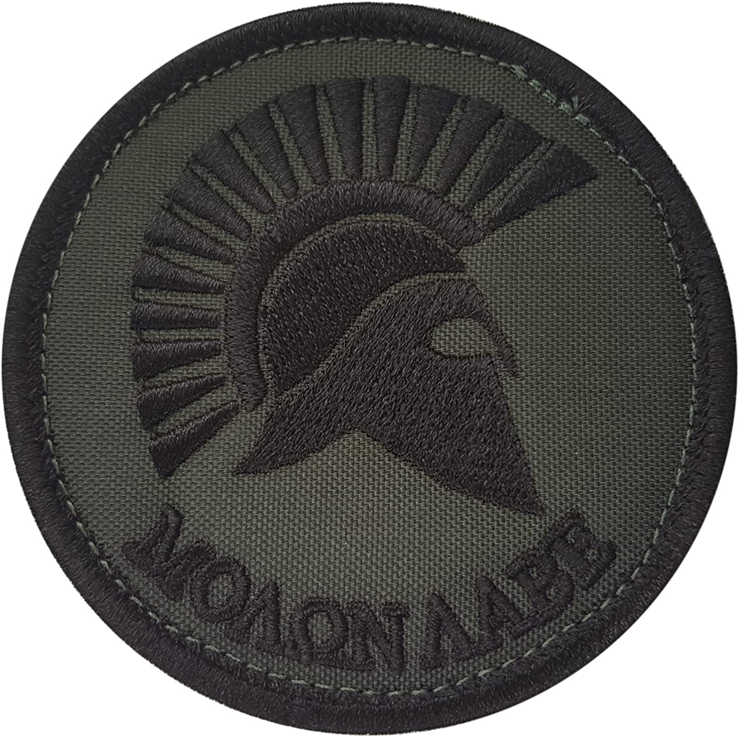 Olive Drab Molon Labe Spartan Helmet OD Green Morale Tactical Army Sew Iron on Patch