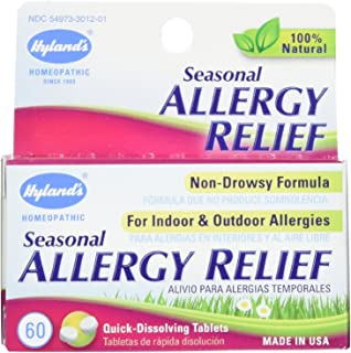 Hyland's Homeopathic Seasonal Allergy Relief Formula, 60 Count