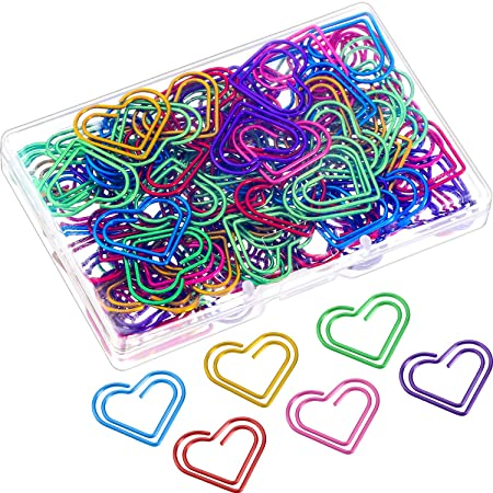 SM SunniMix 20 PCS Smooth Bookmarks Files Paper Documents Paperclips Sing Music Symbol Metal Clips Creative Stationery Multicolor
