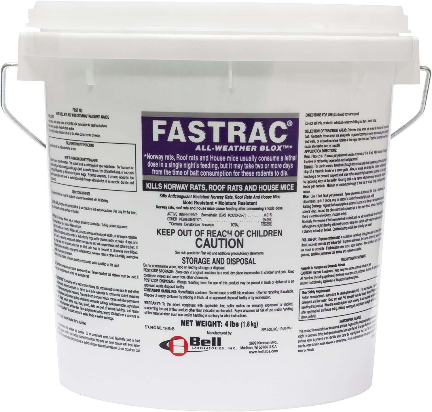 Fasttrac Discount is also underway Blox Very popular Fastrac Rodenticide pail 4lb