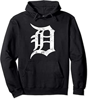 Detroit Long Hooded Pullover Graphic D Motor City Hoodie Pullover Hoodie