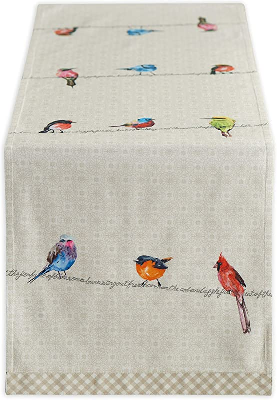 Maison D Hermine Birdies On Wire 100 Cotton Table Runner 14 5 Inch By 72 Inch