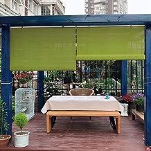 Rolgordijn bamboe jaloezieën, bamboe rolgordijnen, zonnekap voor ramen, 70% licht filteren, voor patio's en balkon decorat...