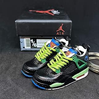 Pair Air Jordan IV 4 Retro DB Doernbecher Superman OG Sneakers Shoes 3D Keychain 1:6 Figure + Shoe Box