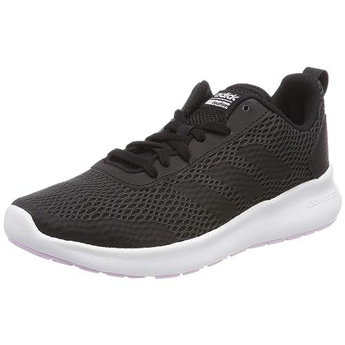 the latest a18cc 513fa adidas Women s Cloudfoam Element Race Running Shoes, (Core Black Carbon Aero  Pink