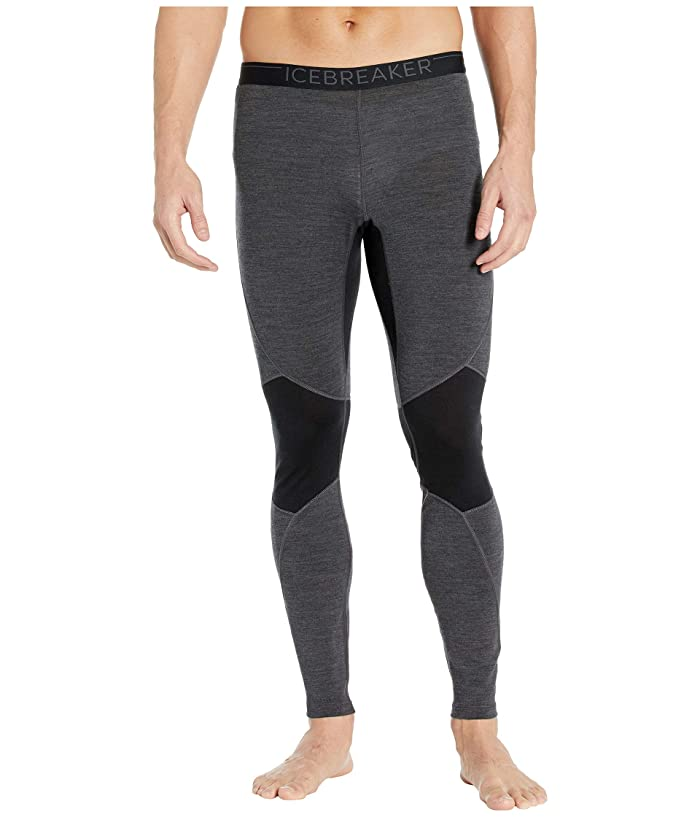 Icebreaker  260 Zone Merino Base Layer Leggings (Jet Heather/Black 1) Mens Casual Pants