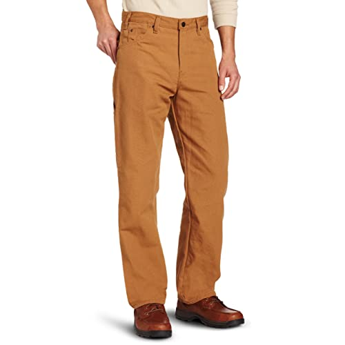 90b9683672 Dickies Men's Relaxed Fit Straight-Leg Duck Carpenter Jean