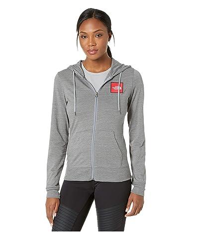 The North Face Americana Tri-Blend Full-Zip Hoodie (TNF Medium Grey Heather) Women