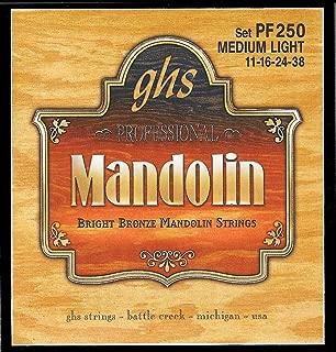 GHS Strings PF250 Bright Bronze Mandolin Strings, Medium Light (.011-.038)