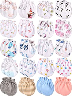 20 Pairs Newborn Baby Gloves Infant Toddler No Scratch Mittens Unisex Baby Mitts for 0-6 Months Baby Boys and Girls